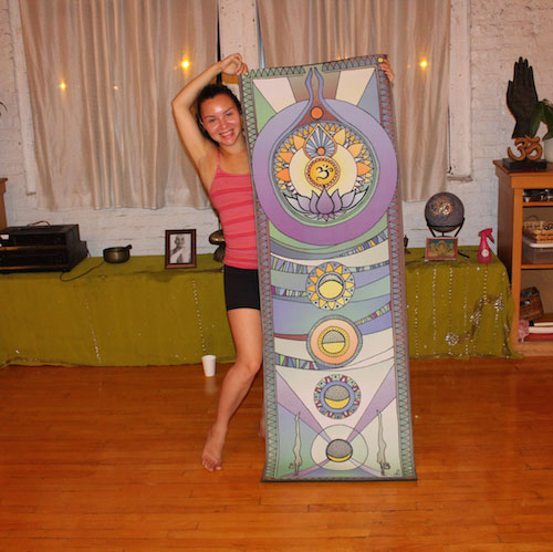 One of the company's many yoga mat designs.