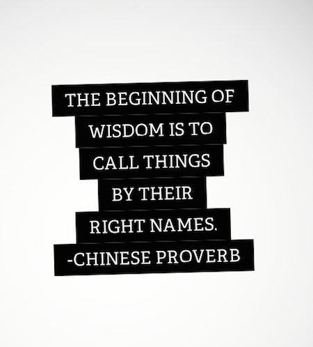 Chinese Naming Proverb