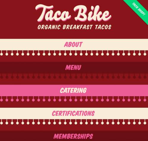 Taco Bike website