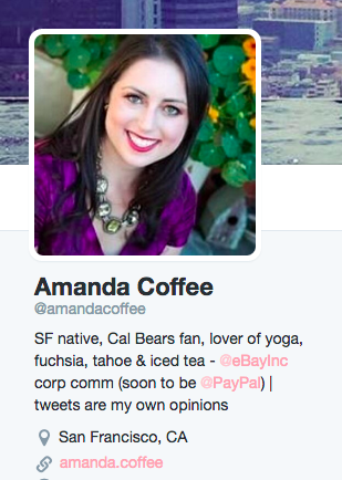 Amanda.Coffee Twitter handle