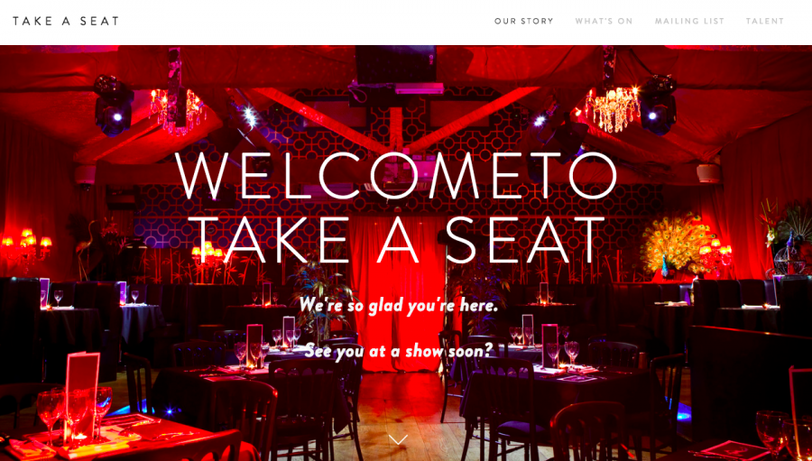takeaseat.events website