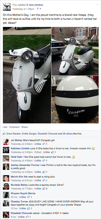 Vespa name help - Facebook