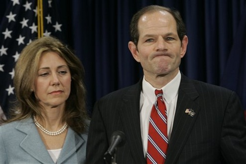 Eliot Spitzer and his wife, Silda