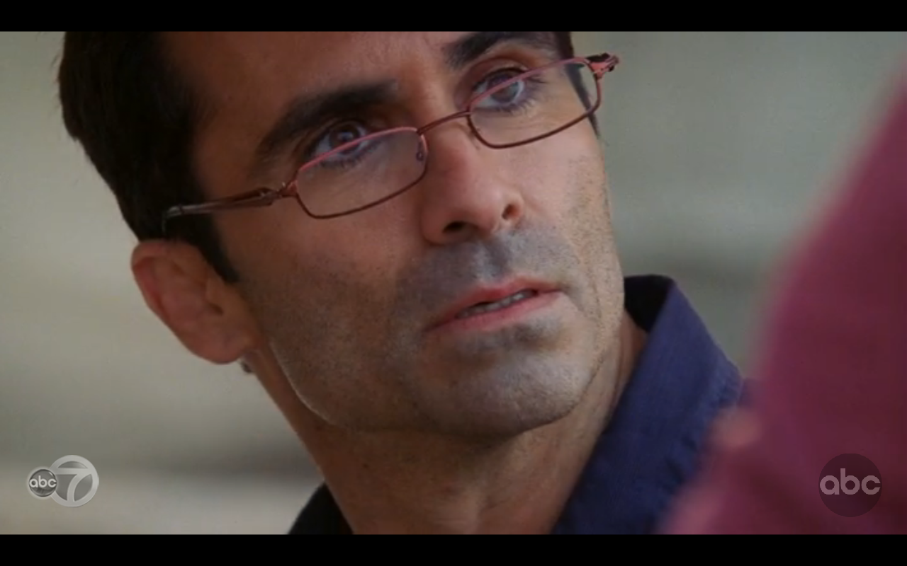Richard Alpert wearing glasses