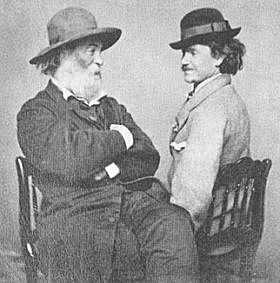 Walt Whitman gazing amusedly at his lover.