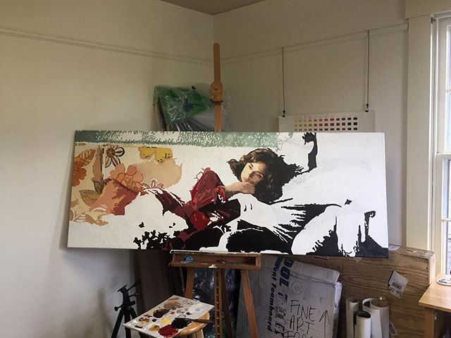 Somebody do the math and tell me if this is halfway done yet 😅 . . . #creativ #arts #contemporarypainting #figurativepainting #artistsofinstagram #dayton #studio #workinprogess #color #artistlifestyle #workingartist #createmagazine #createmag #canvaspainting #artmazemag #artmazemagblog