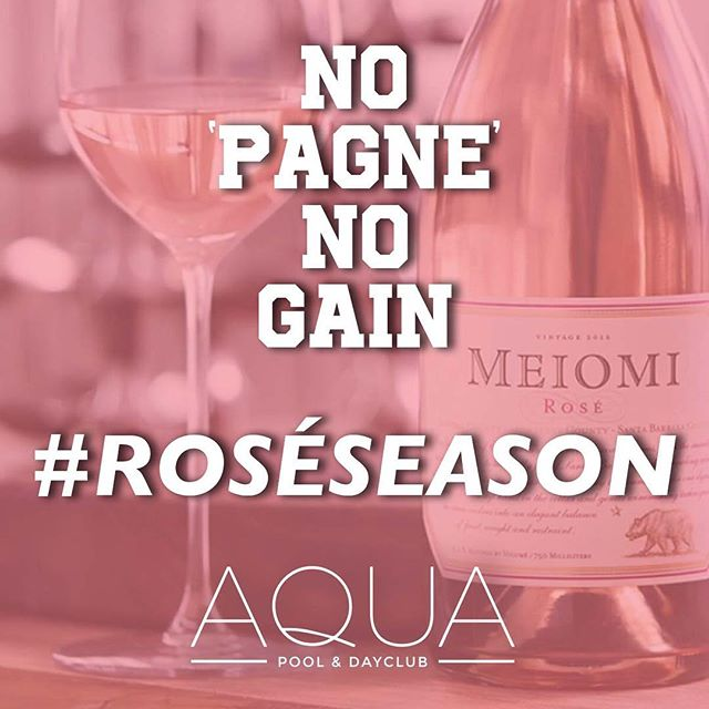 We are one week away! 6/10 1pm @aquadayclub  Last call for $25 Open Rosé Bar tickets! Link is in my bio....🌴🍾😎 #AquaDayClub #RoseSeason