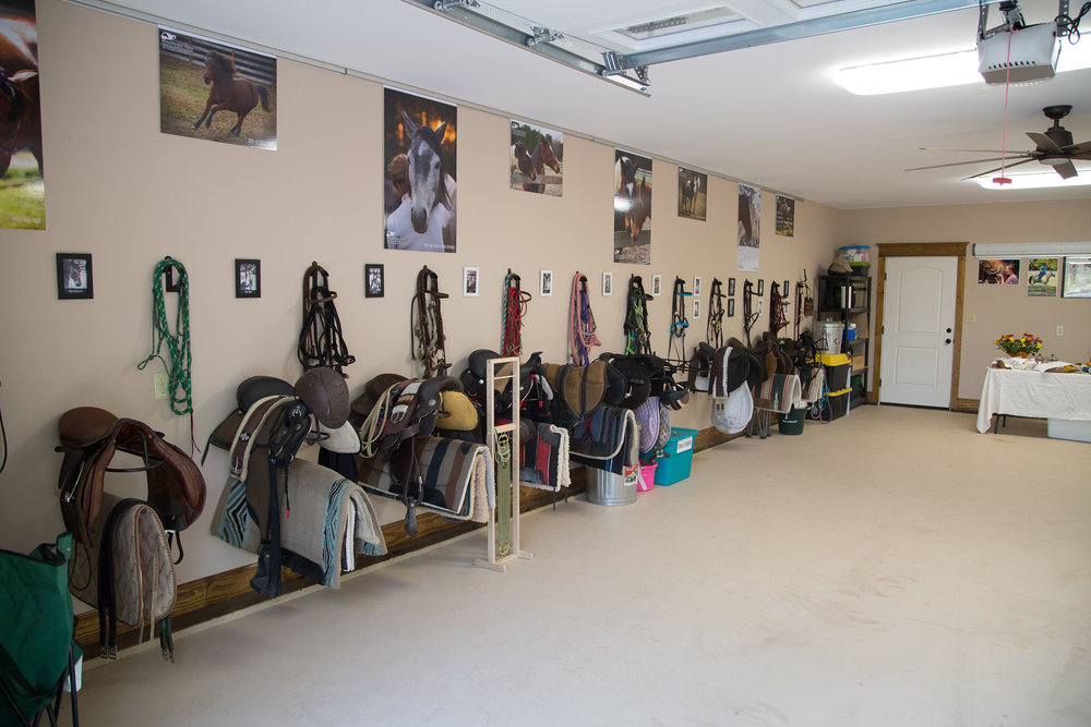 Climate-controlled tack room, classroom, and restroom at Timberline Ranch, LLC.