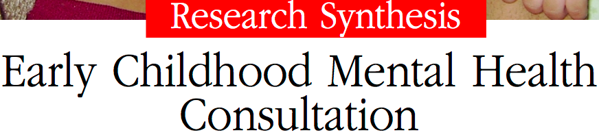 Click this image to read about early Childhood mental health consultation