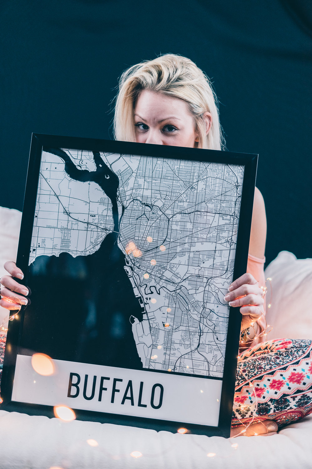 map of buffalo, maps of buffalo, buffalo art print, black and white city print, indie twenty, queen city map, queen city gypsy, fashion blog, buffalo blogger, buffalo fashion blogger, buffalo lifestyle blogger, seek axiom photography, rachel sweeney, modern map art, twinkle lights photography