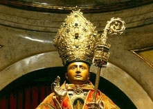 Saint San Fermin in his Chapel in Pamplona