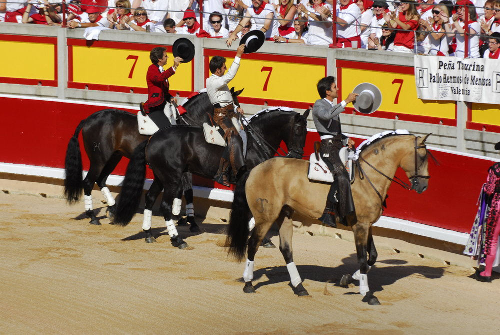 "Bullfights on July 6 are on Horseback ""Rejones"""