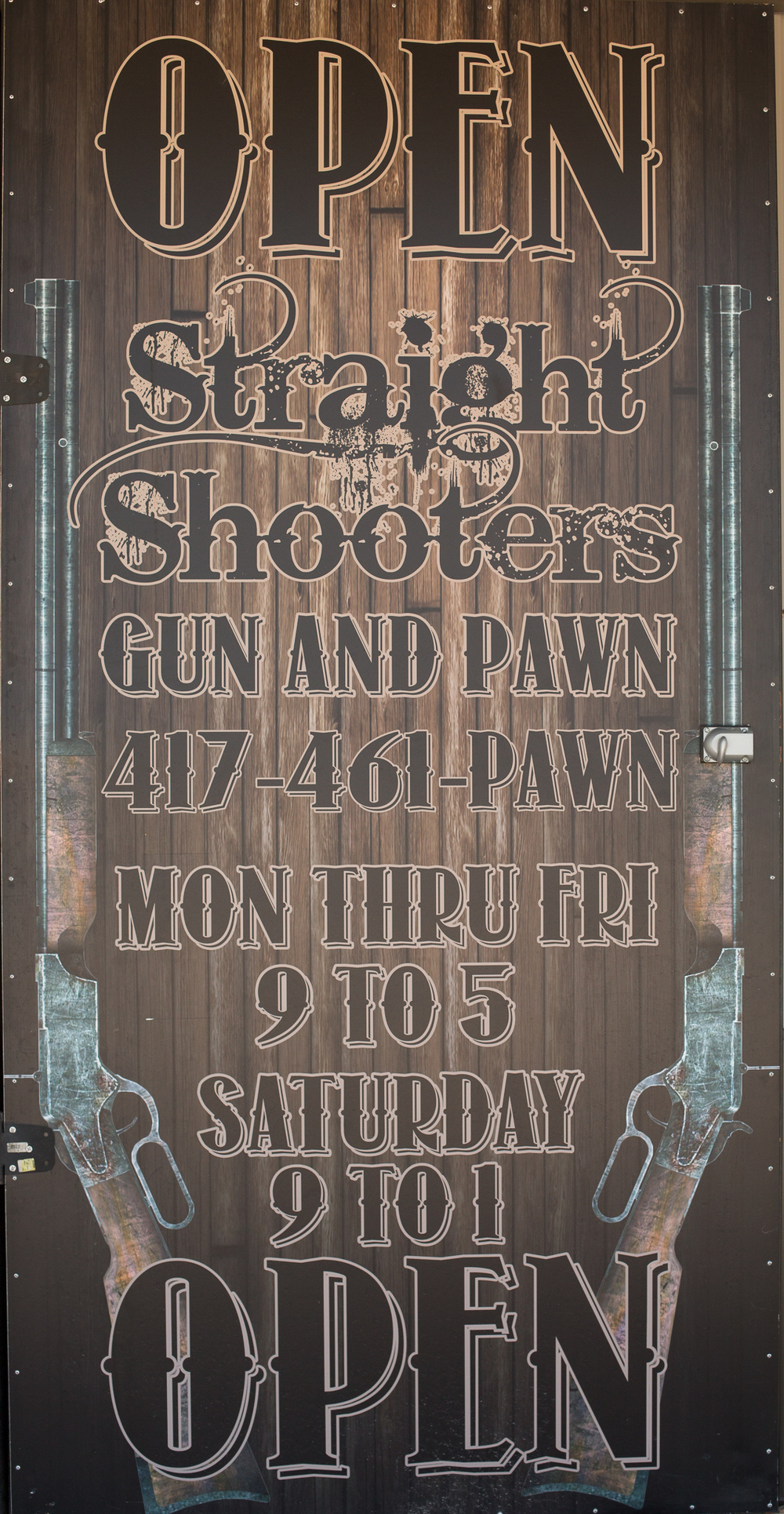 Straight Shooters Gun + Pawn Open