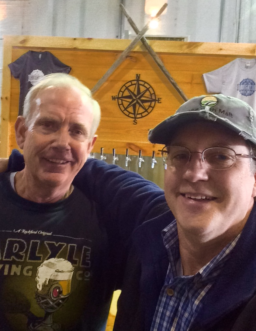 Bob Johnson, Head Brewer, Navigation Brewing making some great beer with Stone Path Malt - Cheers Bob!