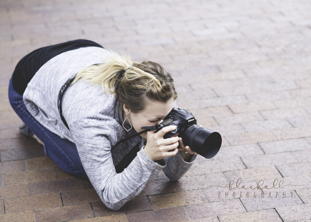 Jenna helping me out on location for a bridal session.The D800 looks good on you sister!