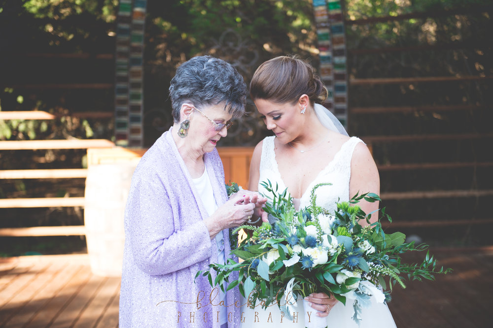 The bride was wearing her grandmothers wedding ring... such a beautiful moment.