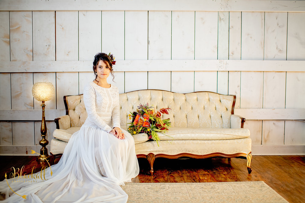 The most beautiful natural lighting inside the bridal suite at The Big White Barn