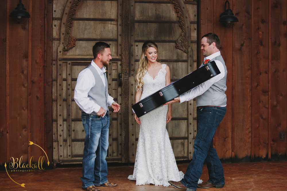 Taylor's friend + Groomsman Matt custom made his guitar for his wedding day gift!! So amazing!!!