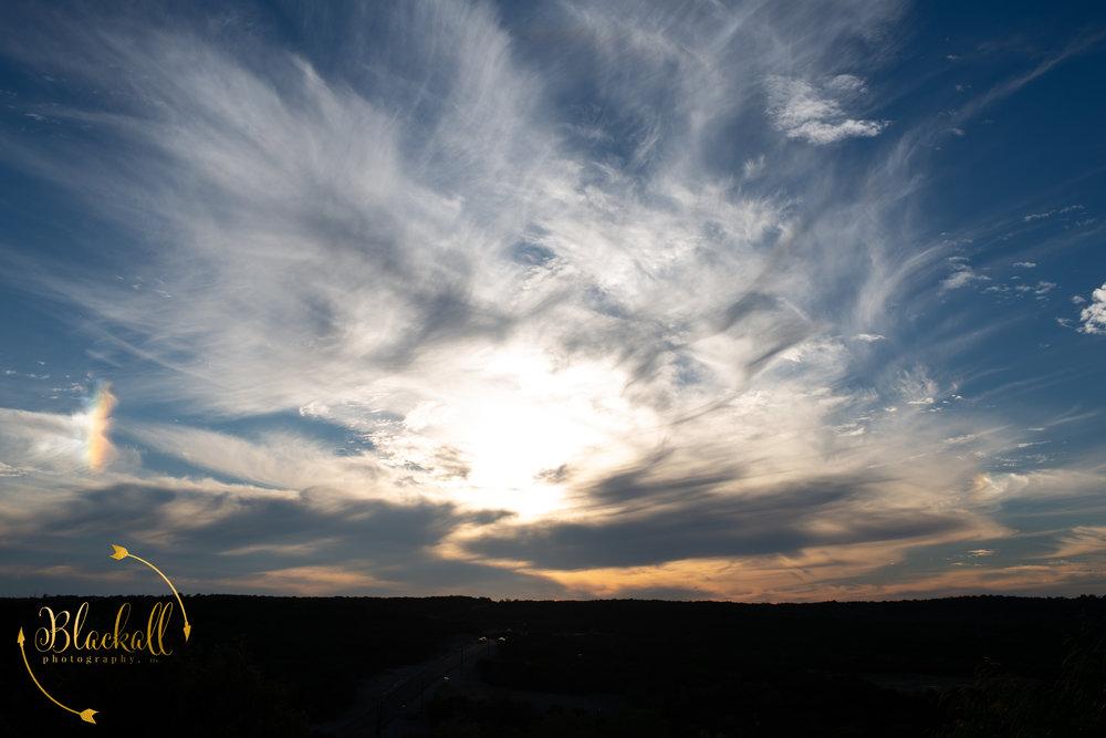 Sunset at Dove Ridge Vineyard