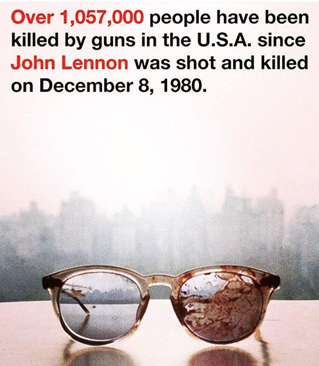 Over a million people have been murdered by guns since John Lennon's assassination in December 1980.  This is sad and frustrating.  All these deaths could have been prevented.  When will anything change? 😢😡 #guns #gundeaths #massshooting #johnlennon #murder #fuckguns #gunskillpeople #backgroundchecks #strictergunlaws #gunlegislationnow #senselessviolence