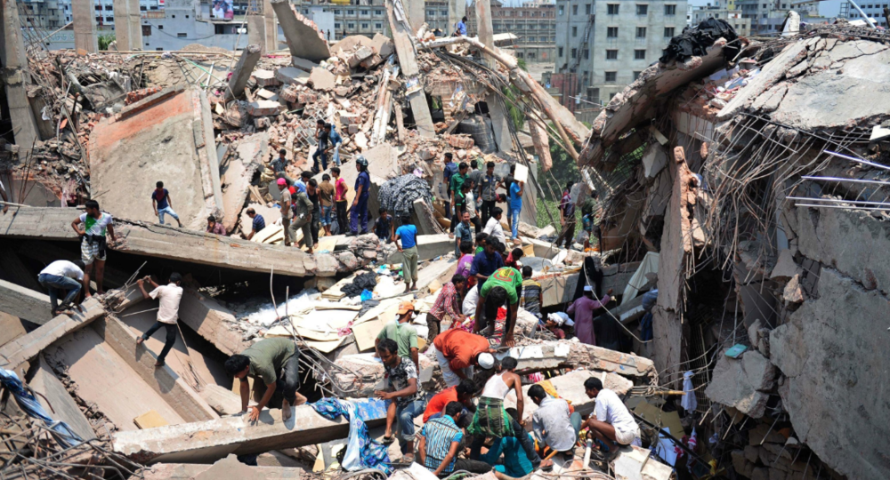 Rana Plaza collapse, 2013. Photo cred: USA TODAY