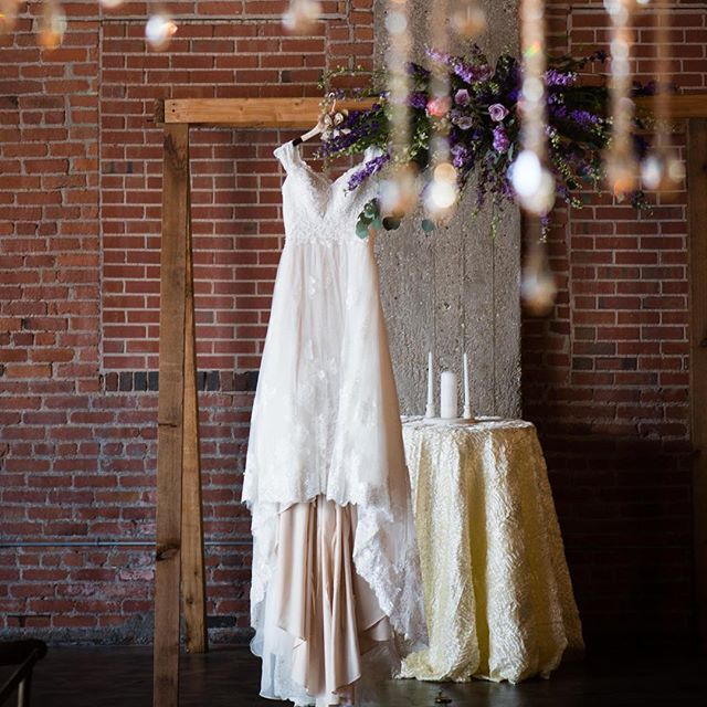 Le Sigh, Old World beauty at its best. #bride #gown #chandelier #brick #brickandmortarevents #wichitaweddingphotographer #wichita #naturallight #authenticbeauty
