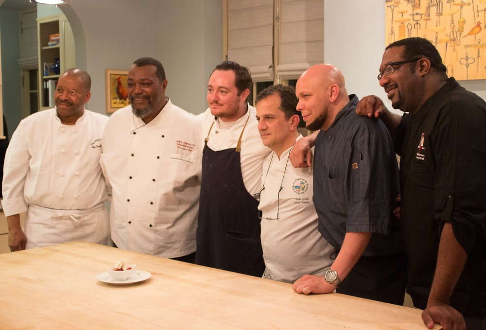 Chef Dennis Williford, Chef Ashbell McElveen, Chef Hari Cameron, Chef Alain Ivaldi, Chef Darryl Harmon and Dana Herbert