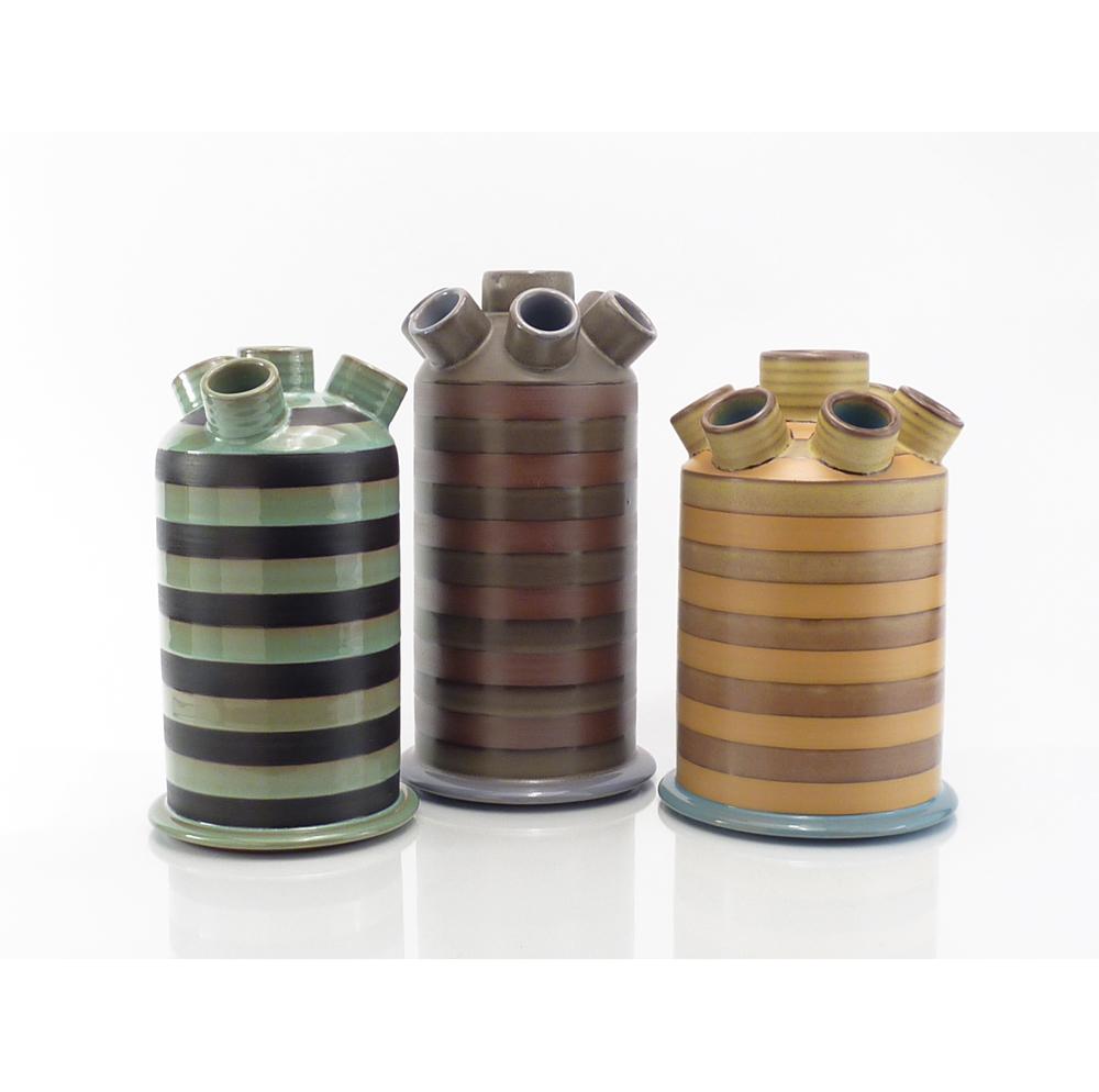Striped Flux Capacitor Vases