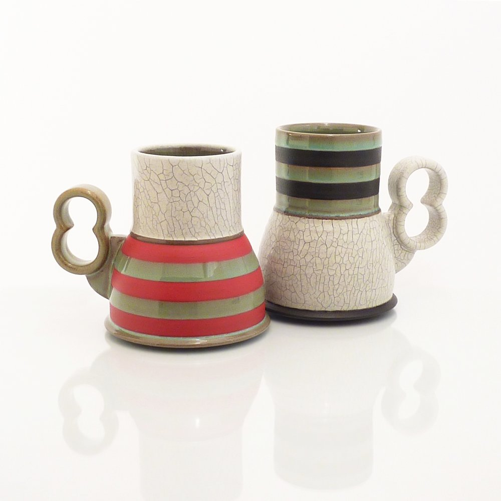 Crackle Beaker mugs
