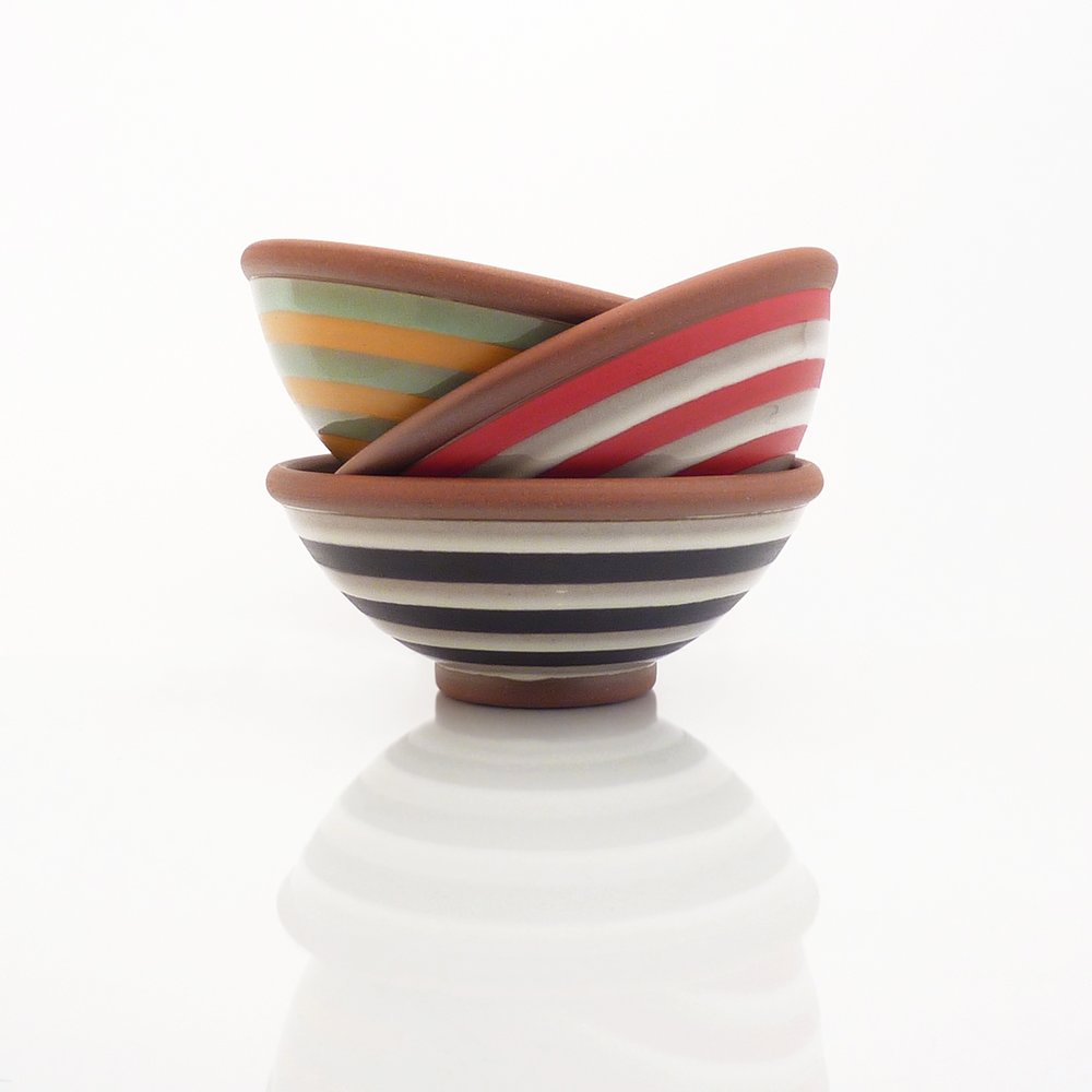 Soup / cereal bowls : continuous stripes