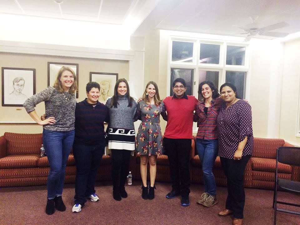 WiSE members after Leemor's round-table talk. From left: Kaitlin, Angela, Alex, Lital, Dhananjay, Hillary and Grinu