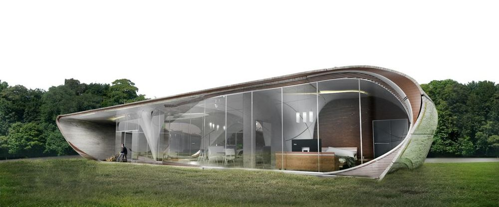 First free form 3D printed house