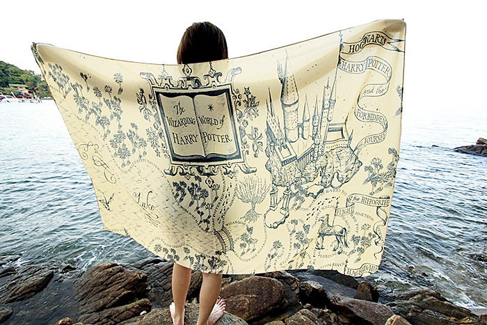 As I live and breathe...A Marauder's Map towel.