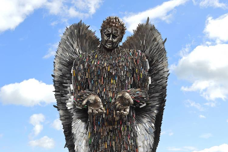 'Knife Angel' by Sculptor Alfie Bradley