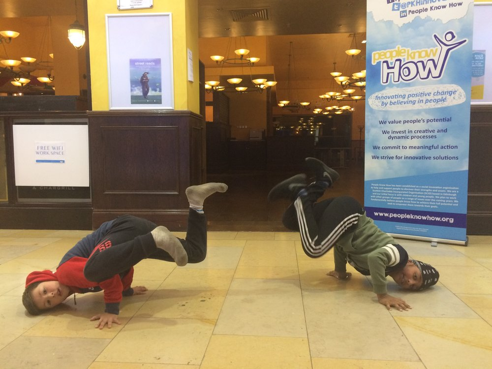 Bboys Flickstar and Slider at Ocean Terminal Community Space