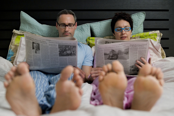Perhaps there's more than the newspaper to occupy your time on lazy mornings...