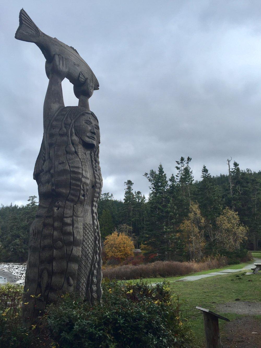 Kwuh-kwal-uhl-wut aka the Deception Pass Maiden near Rosario Head on Fidalgo Island. 11/16/17