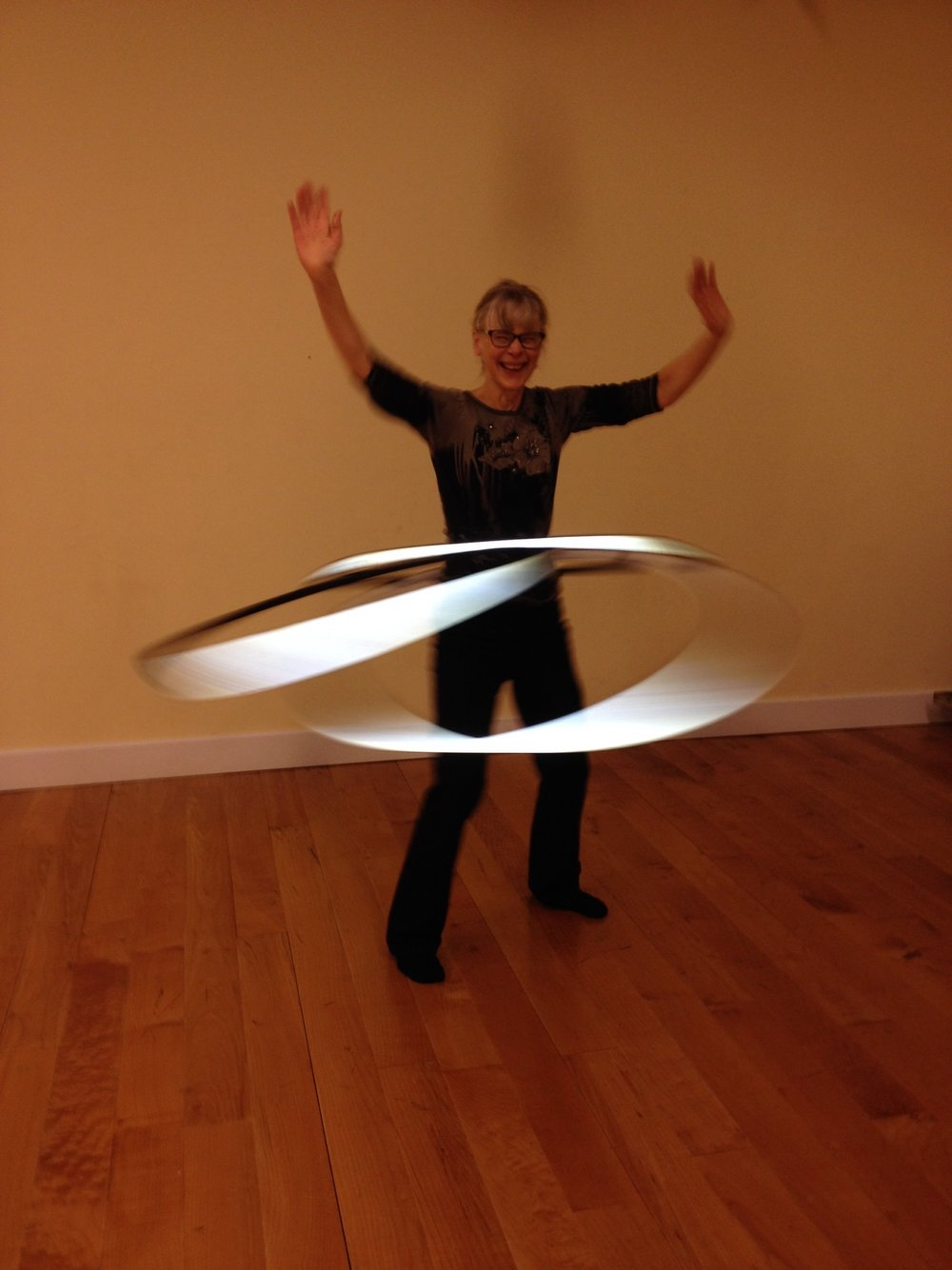 Look at the pure Joy in her face! That's what I love most about Hoop Dancing. Image taken tonight at the Center for Mindful use, Hoop Dance every Thursday at 5:55pm.