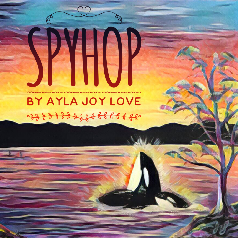 Newest Published Book Cover.  Click here or on the above image for a link to purchase Spyhop ! Thank you!