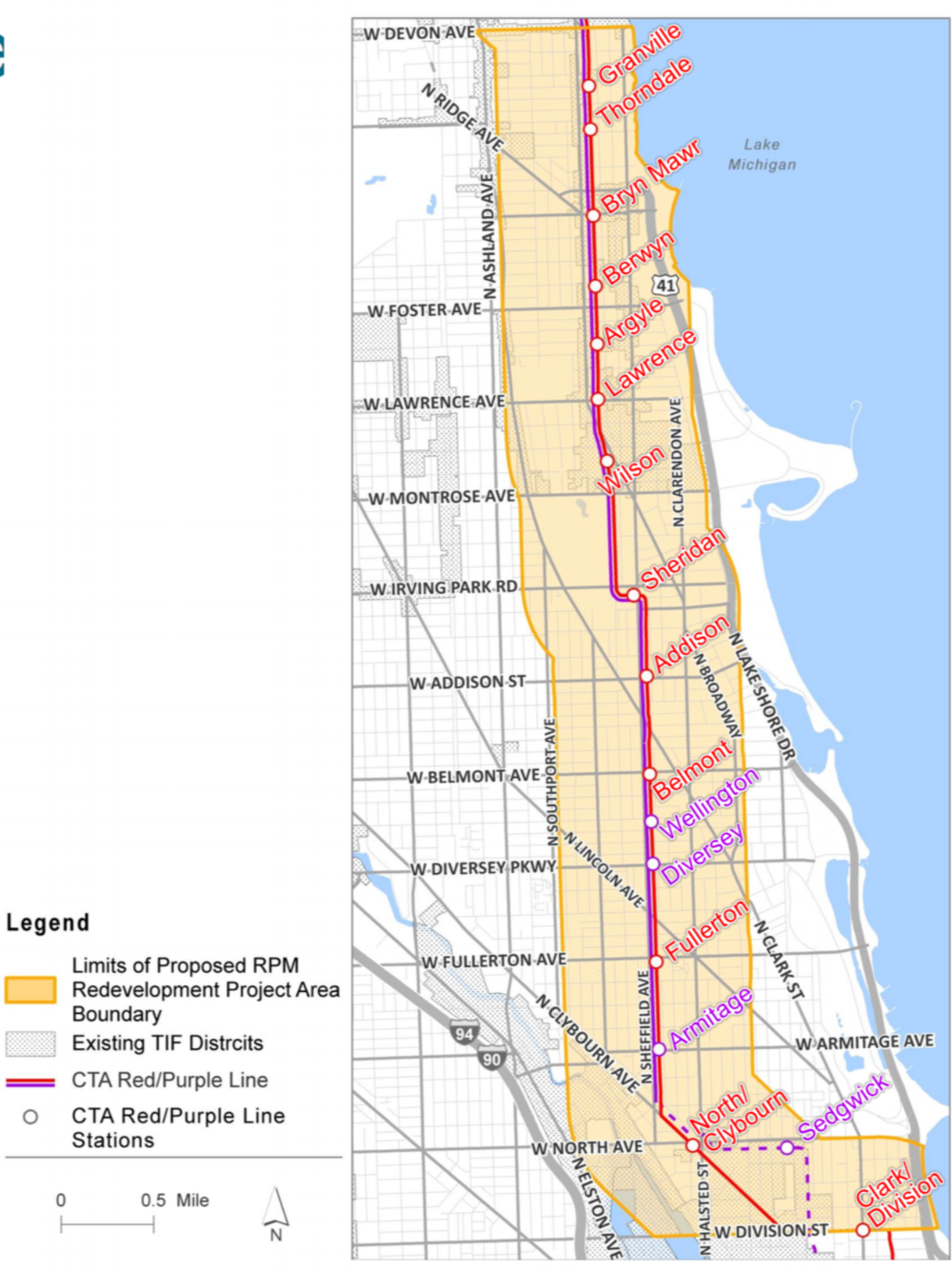 Map of the new Chicago Transit TIF: Chicago Transit Authority