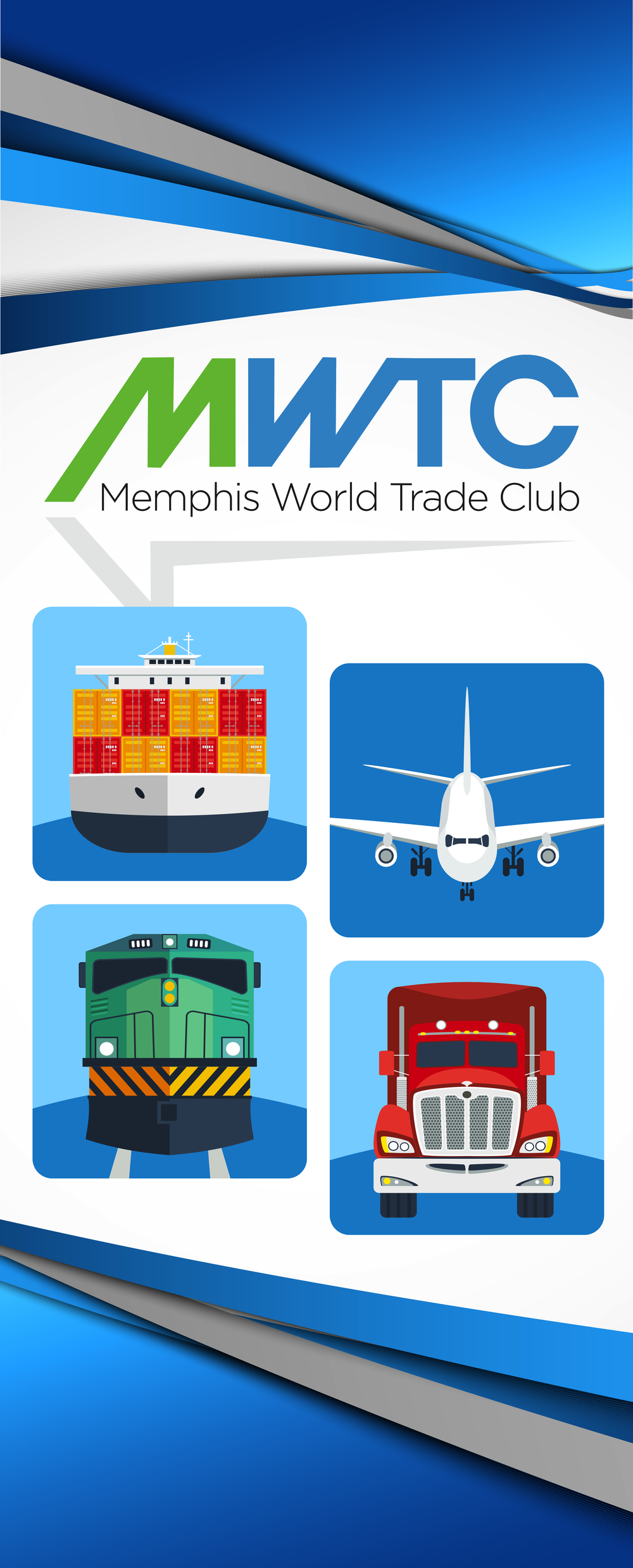 Pull Up Banner - Memphis World Trade Club