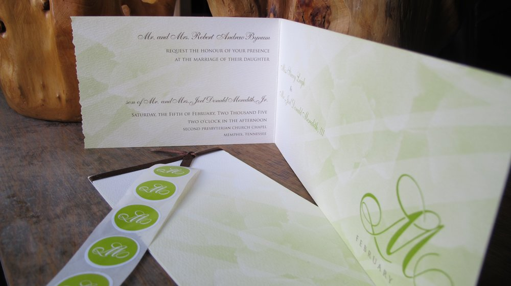 Custom Wedding Invitation + Monogram