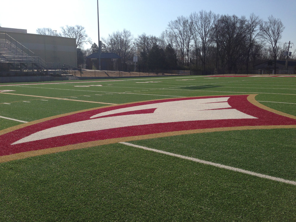 Exterior - Turf football field graphics