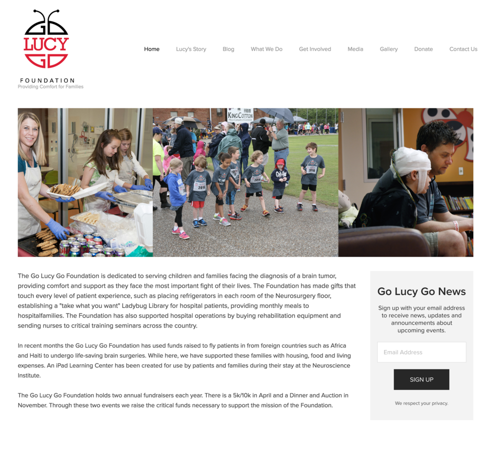 Website - Go Lucy Go Foundation