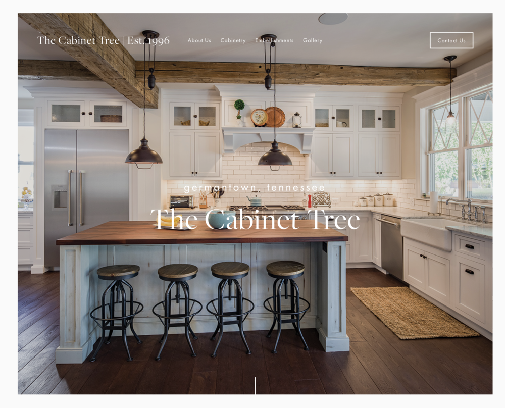 Website design - The Cabinet Tree