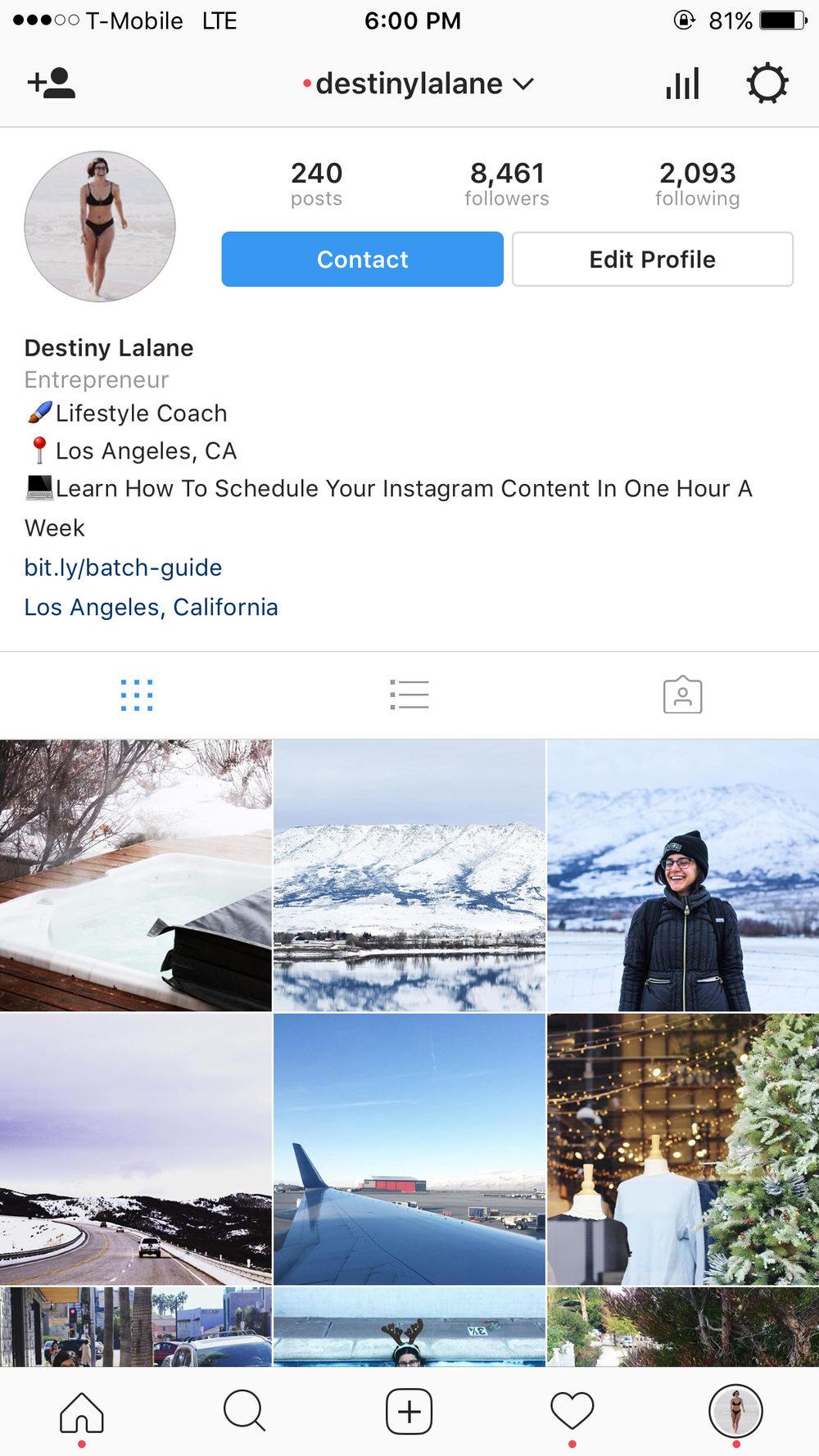 Step 1: Open the Instagram app on your phone or tablet. This currently can not be done on a desktop interface. Click the settings gear on the top right of the screen.