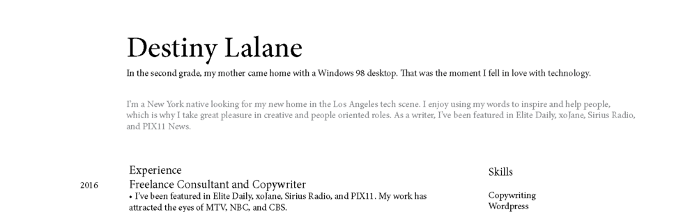 Here's what my original remote resume looked like.