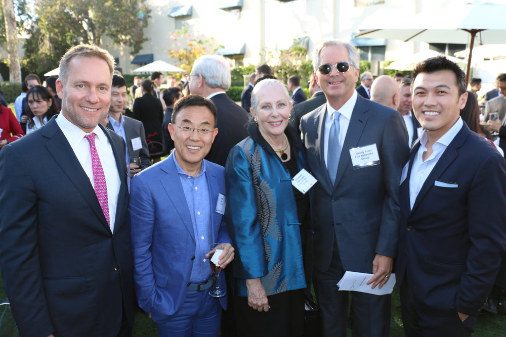 Select LA Reception at Fox Studios with (left to right): Steve Olson, Jack Gao, Elizabeth Harrington, Randy Freer and Stephen Cheung