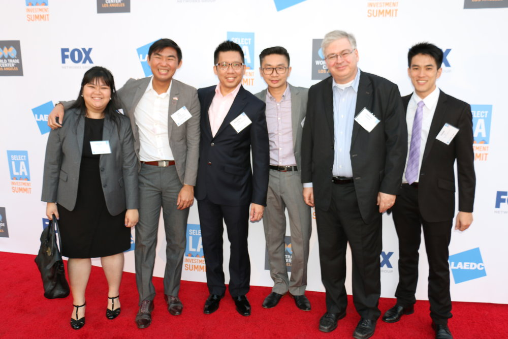 Delegation of companies and government officials from Singapore at the Select LA Reception