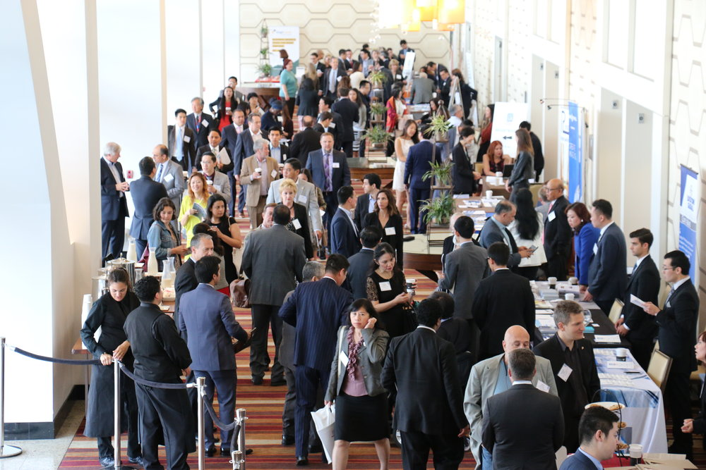 The exhibitor area during the Select LA Investment Summit on June 17, 2016